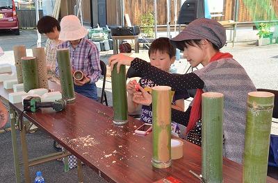 竹灯篭作り